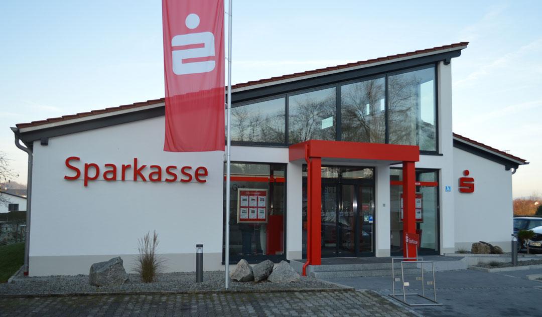 Sparkassenfiliale, Neubau